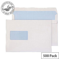 Purely Everyday Wallet Self Seal Window White 100gsm C5 162x229 (Pack of 500)