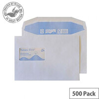 Purely Environmental Mailer Gum High Window White 90gsm C5 162x229 (Pack of 500)