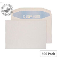 Purely Environmental Mailer Gummed White 90gsm C5+ 162x238mm (Pack of 500)