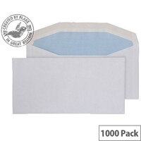 Purely Everyday White DL+ Envelopes Mailer Wallet Gummed 80gsm Pack of 1000