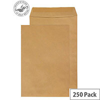 Purely Everyday Manilla Envelopes 115gsm Gummed Pocket 381x254mm Pack of 250