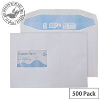 Purely Environmental Mailer Gum CBC Window White 90gsm C5 (Pack of 500)