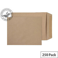 Purely Everyday Manilla Gummed 115gsm Envelopes Pocket 305x250mm Pack of 250