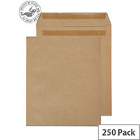 Purely Everyday Manilla 115gsm Envelopes Self Seal Pocket 305x250mm Pack of 250