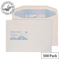 Purely Environmental Mailer Gummed Window White 90gsm C5+ 162x238 (Pack of 500)