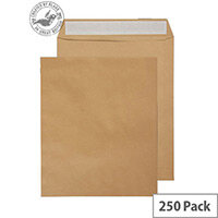 Purely Everyday Pocket Envelopes Peel and Seal Manilla 115gsm 305x250mm Pack of 250