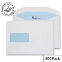 Blake Premium Postfast Mailing Wallet Window Gum White C5 90gsm (Pack of 500)