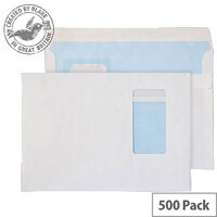 Purely Everyday Wallet Self Seal Portrait Wndw White 100gsm C5 (Pack of 500)