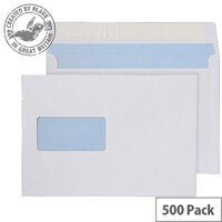 Purely Everyday Wallet P&S Window White 100gsm C5 162x229mm (Pack 500)