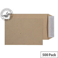 Purely Everyday Pocket Envelopes Peel and Seal Manilla 115gsm 190x127mm Pack of 500