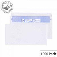 Purely Environmental Wallet Envelopes Gummed White 80gsm 102x216mm Pack of 1000