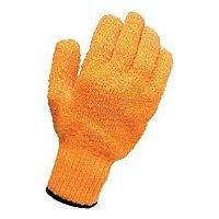 Knitted Grip Gloves Pack 1 High Grip PVC Lattice One Size