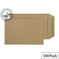Purely Everyday Manilla 115gsm Envelopes Gummed Pocket 254x178mm Pack of 500