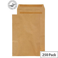Purely Everyday Manilla 100gsm Envelopes Self Seal Pocket 406x305mm Pack of 250