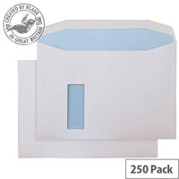 Purely Everyday Mailer Gum Reverse Window White 120gsm C4 229x324 (Pack of 250)