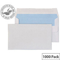 Purely Everyday Wallet Envelopes Self Seal White 80gsm 89x152mm Pack of 1000