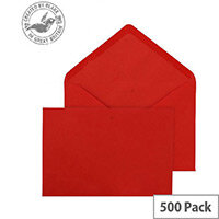 Purely Everyday Banker Invitation Envelopes Gummed Red 100gsm 133x185mm Pack of 500
