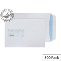 Purely Environmental Pocket Self Seal Window White 100gsm C5 (Pack of 500)