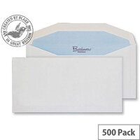 Blake DL+ White Premium Postfast Mailing Wallet Envelopes 90gsm Pack of 500