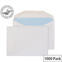 Purely Everyday Wallet Envelopes Gummed White 90gsm B6 125x176mm Pack of 1000