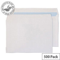 Purely Everyday Wallet Self Seal White 100gsm C5 162x229mm (Pack of 500)