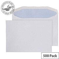 Purely Everyday Mailer Envelopes Gummed Wallet White 90gsm 178x254mm Pack of 500