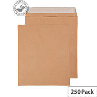Purely Everyday Pocket Envelopes Peel and Seal Manilla 115gsm 330x279mm Pack of 250