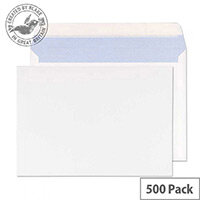 Purely Everyday Wallet Envelopes Peel and Seal White 176x250mm 90gsm Pack of 500