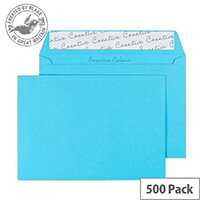 Creative Colour Cocktail Blue C6 Wallet Envelopes (Pack of 500)