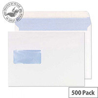 Purely Everyday Wallet Envelopes Peel and Seal Window White 176x250mm 90gsm Pack of 500