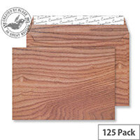 Creative Senses Polished Oak Pattern Wallet C5 Envelopes (Pack of 125)