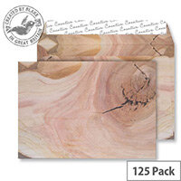 Creative Senses Natural English Oak Pattern Wallet C5 Envelopes (Pack of 125)