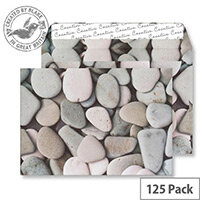 Creative Senses Purbeck Pebbles Pattern Wallet C5 Envelopes (Pack of 125)