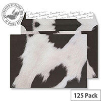 Creative Senses Fresian Cow Hide Pattern Wallet C5 Envelopes (Pack of 125)