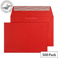 Creative Colour Pillar Box Red C6 Wallet Envelopes (Pack of 500)