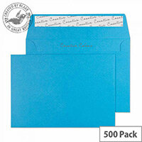 Creative Colour Caribbean Blue Wallet C6 Envelopes (Pack of 500)