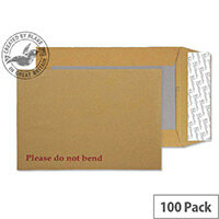 Blake Premium Manilla C4 Avant Garde Board Back Envelopes Peel and Seal Cream 130gsm (Pk100)