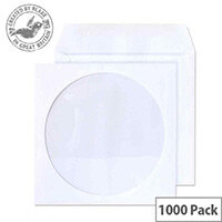 Purely Everyday White Wallet Gum 90gsm Circular Window 125x125 (Pack of 1000)