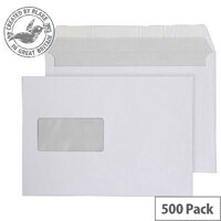 Purely Everyday Wallet P&S Window Bright White 120gsm C5 162x229 (Pack of 500)