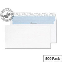 Blake Premium Office Envelopes Wallet Peel and Seal White Wove DL+ 114x229 120gsm Pack of 500