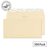 Blake DL Cream Premium Business Wallet Wove Vellum Envelopes 120gsm Pack of 500