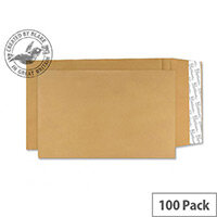 Blake Premium Cream Manilla Avant Garde Gusset Envelopes Peel and Seal 381x254x25mm 140gsm Pack of 100