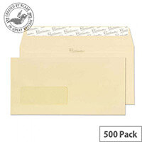 Blake Cream DL Premium Business Wallet Window Wove Vellum 120gsm Pack of 500
