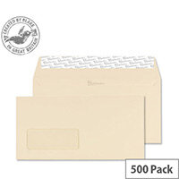 Blake Cream DL Premium Business Wallet Window Wove Envelopes 120gsm Pack of 500