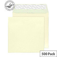 Creative Colour Clotted Cream Square Wallet Envelopes (Pack of 500)