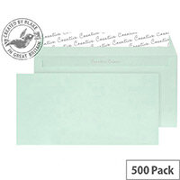 Creative Colour Spearmint Green DL+ Wallet Envelopes (Pack of 500)