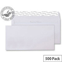 Creative Colour Ice White DL+ Wallet Envelopes (Pack of 500)