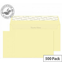 Creative Colour Clotted Cream DL+ Wallet Envelopes 120gsm Pack of 500
