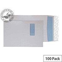 Blake Premium Off Gusset Pocket Window Envelopes Peel and Seal White Wove C4 324x229x25 140gsm Pack of 100