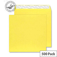 Creative Colour Banana Yellow Square Wallet Envelopes (Pack of 500)